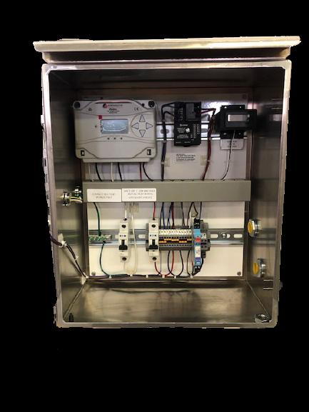 PRECO Control Cabinet - open